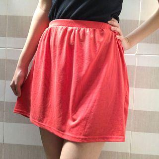 #mauthr Red Flare Skirt