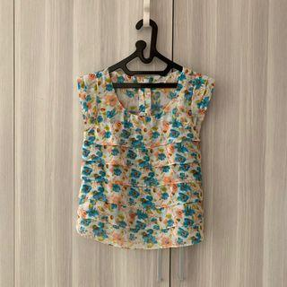 COLORBOX - white floral top
