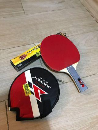 乒乓球拍 橫板- table tennis racket - ping pong racket