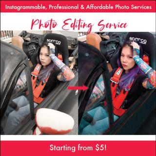 I edit your pictures for cheap !