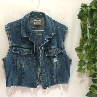 Rompi vest jeans crop