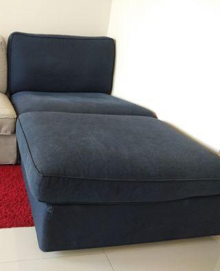 Blue Ikea sofa - 2 pieces