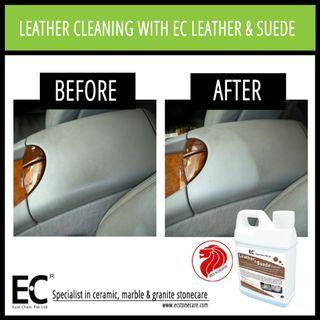 EC Leather & Suede Cleaner for Car Interior, Sofa, Watch Strap, Leather Goods etc