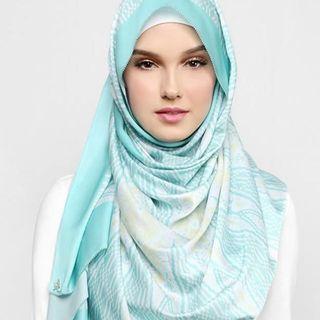 Duckscarves Eid Songket in turquoise #CarouRaya