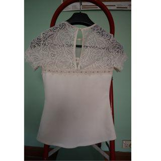 White lace top!