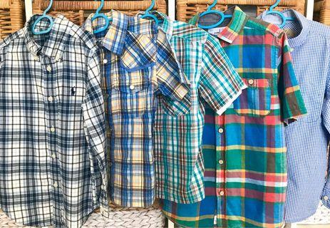 Boys Checkered Shirts 3-8yrs