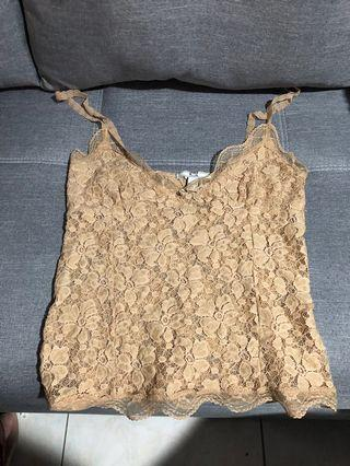 Bundle Mango lace top in nude and black