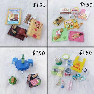 食玩 盒玩 烤肉 喝酒 桌椅 雜貨 月餅 中秋節 甜甜圈 甜點 餐盒 塑膠袋 擺飾 收藏