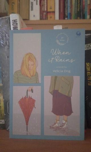 Novel bekas When it Rains Velicia Ong #mauthr