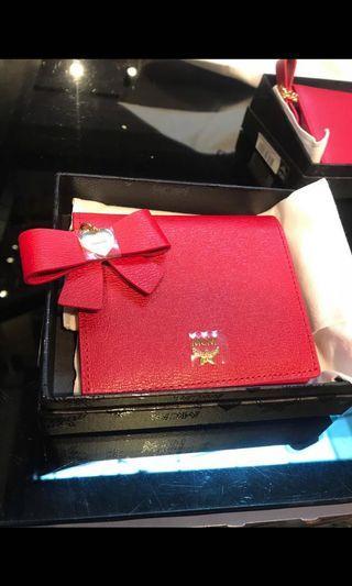 MCM Red Short Wallet