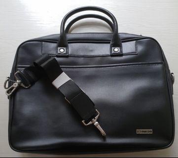 [BNIP] Authentic Mazda Black Leather Briefcase | Laptop | Document Bag