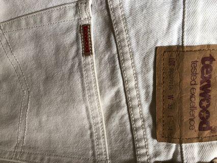 Texwoods Jeans 蘋果牌白色牛仔褲