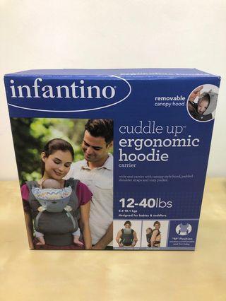 Infantino cuddle up ergonomic bear hoodie baby carrier