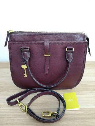 🚚 Fossil Ryder burgundy satchel bag