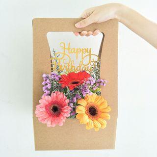 Happy Blooms Box (3 Gerberas)
