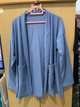 Greyish blue outer