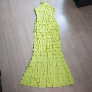 Bright Yellow Long Gown