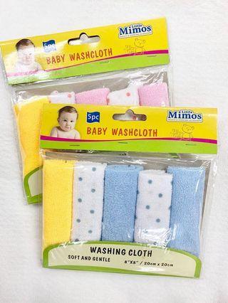 3 for $10, Baby washcloth 5pcs/set