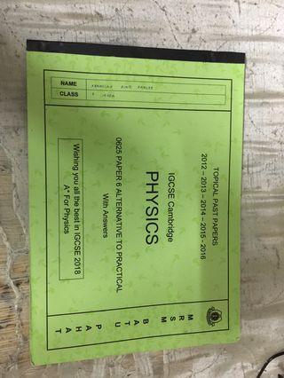 IGCSE Physics 0625 Paper 6