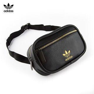 Adidas皮革腰包