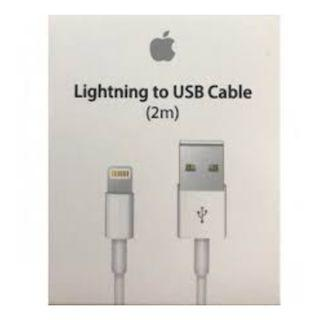 100% Original Apple Lightning Cable 2m (Long Cable)