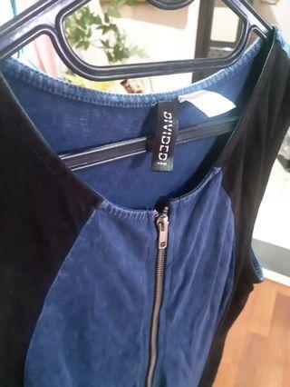 Denim short dress H&M