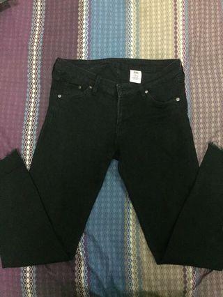 H&M black jeans (cut off)