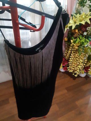Black dress minidress Zara
