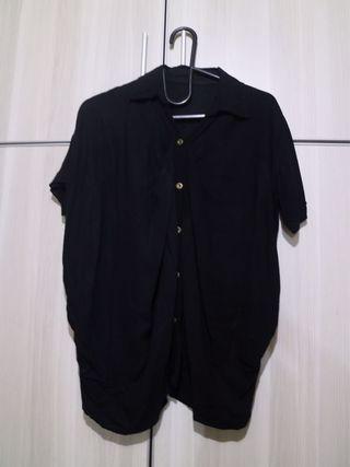 Loose shirt/ outer hitam #mauthr