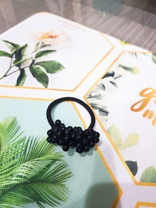 🚚 低調奢華黑珠珠髮飾/髮圈