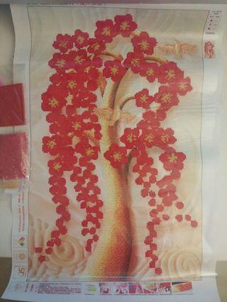 DIY Fortune tree 5D diamond painting (size: 40x60cm)