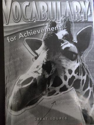 Vocabulary for achievement