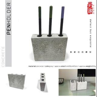 creative handicraft concrete pen holder