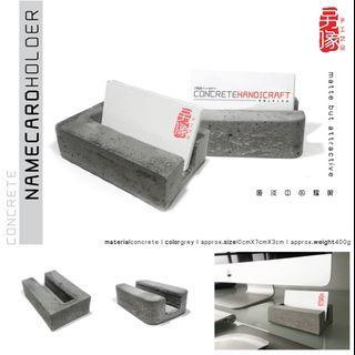 creative handicraft concrete name card holder