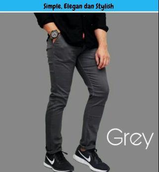 Celana Chinos merk elviti bahan original bahan lentur