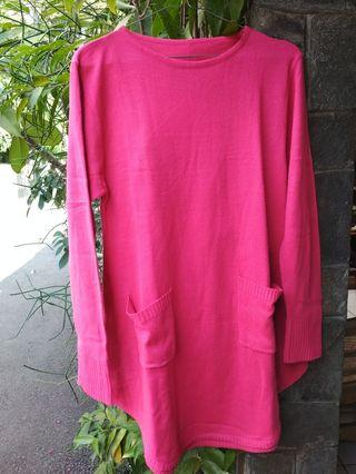 sweater knit (rajut) fuschia #mauthr