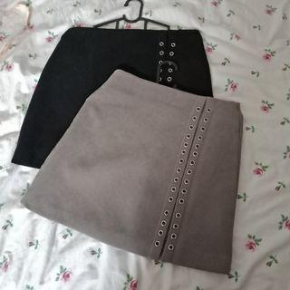 Grey/ Khaki Skirt
