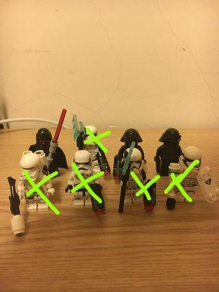 Lego StarWars散裝人仔, Lego StarWars散裝淨機