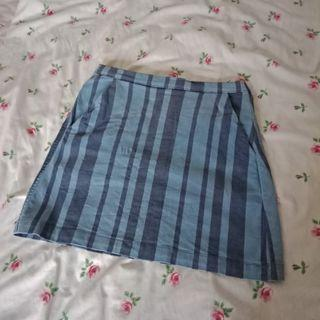 Topshop Blue Skirt