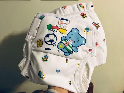 全新台灣製 利尿褲 學習褲 兩條