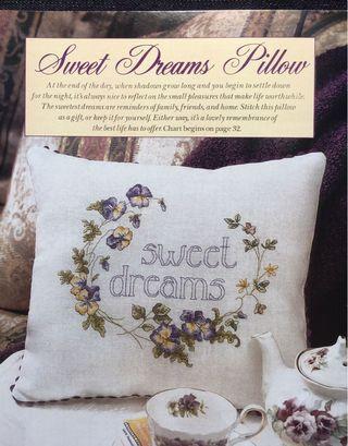 Sweet Dreams Pillow Cross Stitch Chart