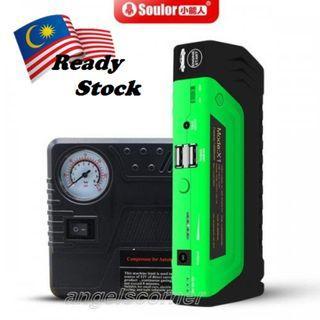 Original Soulor 10800mAh Car Jumper Starter Power Bank & Air Pump