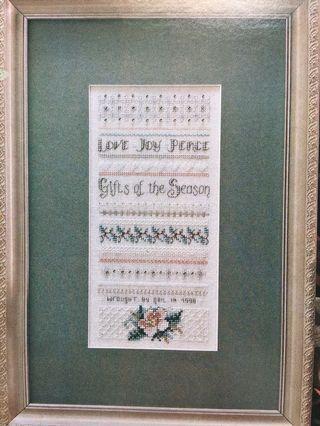Gifts of the Season Cross Stitch Chart
