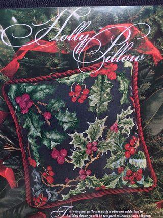 Holly Pillow Cross Stitch Chart