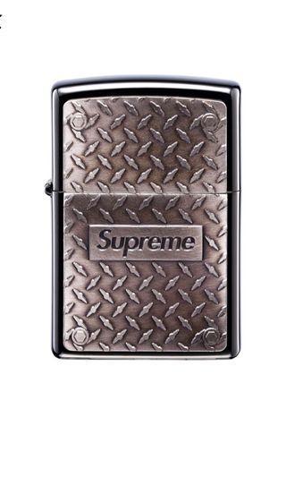 [玩潮者]Supreme Diamond Plate Zippo 打火機