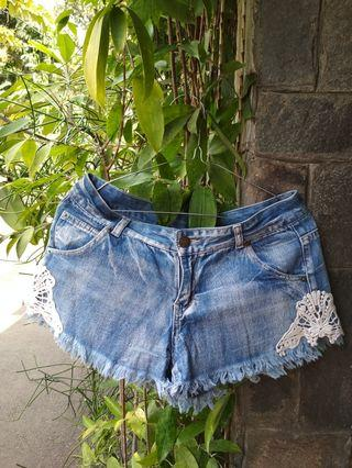 hotpants denim - celana pendek denim #mauthr