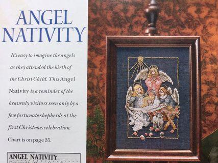 Angel Nativity Cross Stitch Chart