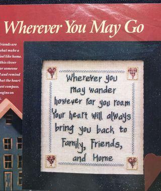 Wherever u May Go Cross Stitch Chart