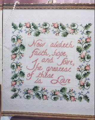 Lace & Roses Cross Stitch Chart