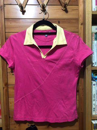 桃紅Polo衫